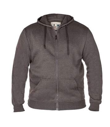 Duke Mens Rockford Kingsize Cantor Zip Through Hooded Sweatshirt (Grey) - UTDC104
