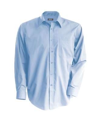 Chemise popeline manches longues - K545 - bleu ciel - homme