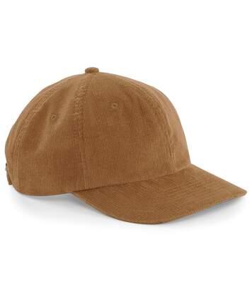 Beechfield Mens Heritage Cord Cap (Pack of 2) (Camel) - UTRW6742