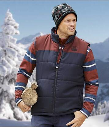 Men's Navy Stylish Padded Gilet