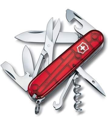 Couteau suisse Victorinox Climber rouge translucide