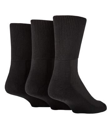 IOMI 3 Pk Extra Wide Bamboo Socks for Diabetics