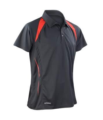 Spiro - Polo Sport À Manches Courtes - Homme (Noir/Rouge) - UTRW1470