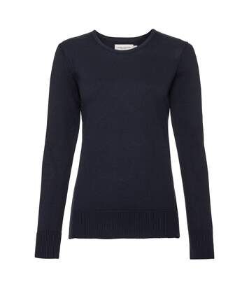 Russell Womens/Ladies Cotton Acrylic Crew Neck Sweater (French Navy) - UTPC3138