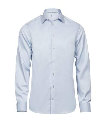 Tee Jays Mens Luxury Slim Fit Long Sleeve Oxford Shirt (Light Blue) - UTPC3485