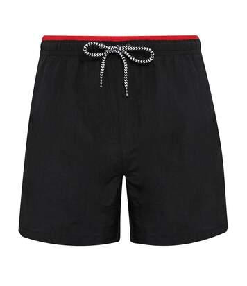 Asquith & Fox Mens Swim Shorts (Black/Red) - UTRW6242
