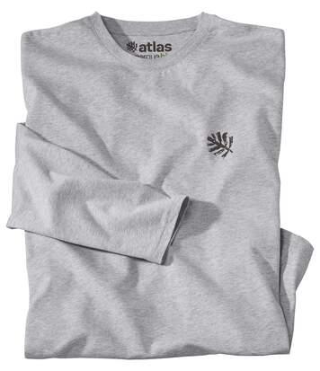 Le Tee-Shirt Homme Manches Longues Coton Bio Gris Chiné