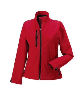 Jerzees Colours Ladies Water Resistant & Windproof Soft Shell Jacket (Classic Red) - UTBC561