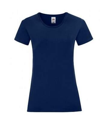 Fruit Of The Loom - T-Shirt Manches Courtes Iconic - Femme (Bleu marine) - UTPC3400