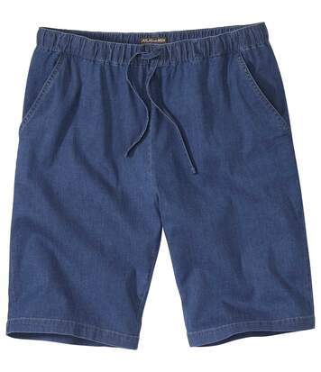 Men's Casual Blue Denim Shorts