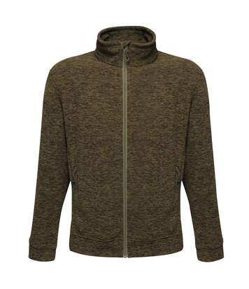 Regatta Mens Thornly Full Zip Fleece (Dark Khaki Marl) - UTRG4159