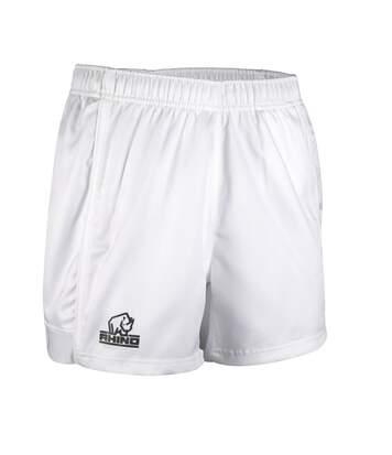 Rhino Mens Auckland Rugby Shorts (White) - UTRW6465