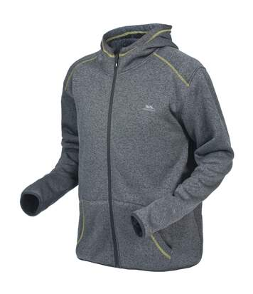 Trespass Mens Dilan Full Zip Hooded Fleece Jacket (Flint Marl) - UTTP1123