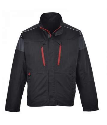 Portwest Mens Texo Work Jacket (Black/ Red) - UTRW2789