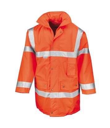 Result Mens Safeguard High-Visibility Safety Jacket (EN471 Class 3) (Fluorescent Orange) - UTRW3224