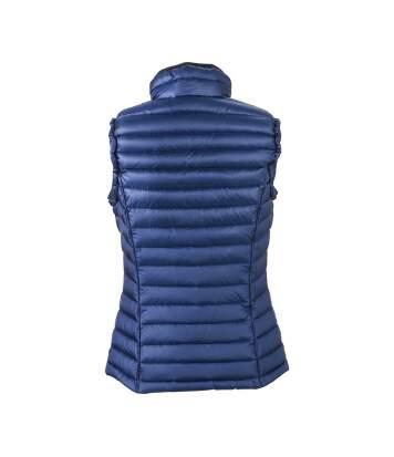 Gilet sans manches matelassé duvet FEMME - JN1079 bleu - doudoune anorak