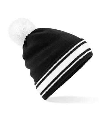 Bonnet stadium - Adulte - B472 - noir et blanc