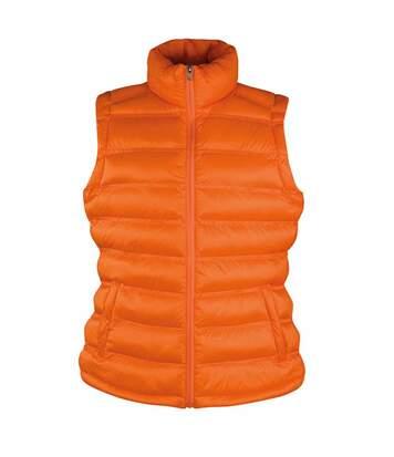 Doudoune anorak sans manches bodywarmer FEMME - R193F - orange