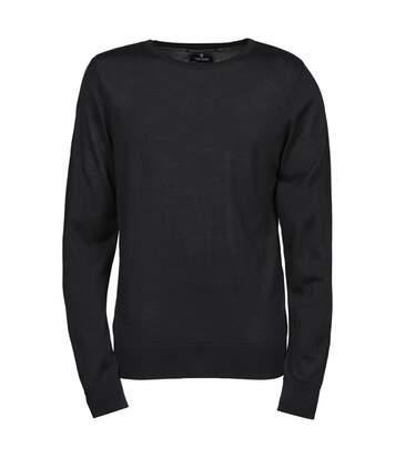 Pull classique laine col rond - HOMME - 6000 - noir