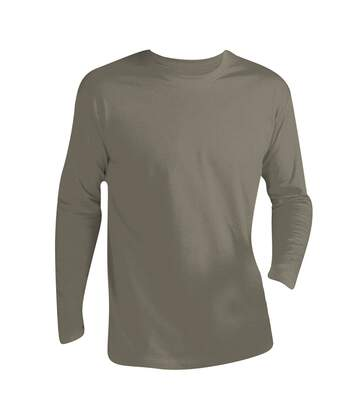 SOLS Mens Monarch Long Sleeve T-Shirt (Khaki) - UTPC313