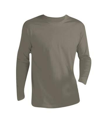 Sols Monarch - T-Shirt À Manches Longues - Homme (Kaki) - UTPC313