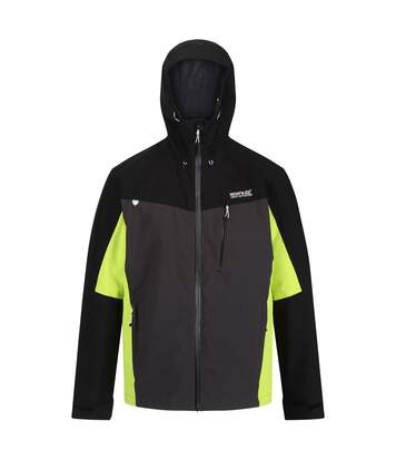 Regatta Mens Birchdale Waterproof Hooded Jacket (Ash/Black) - UTRG3474