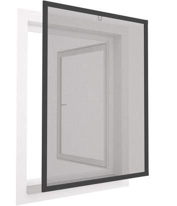 Moustiquaire pour fenêtre avec cadre en aluminium 100x120 cm