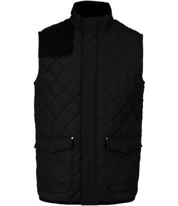Bodywarmer veste sans manches matelassée - K6124 - noir - homme