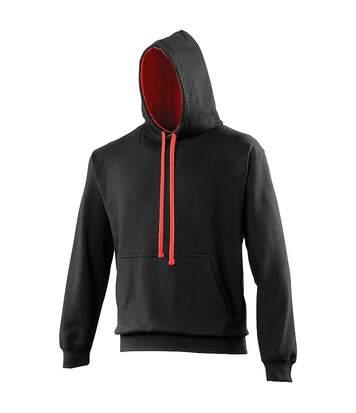 Awdis Varsity Hooded Sweatshirt / Hoodie (New French Navy/Fire Red) - UTRW165