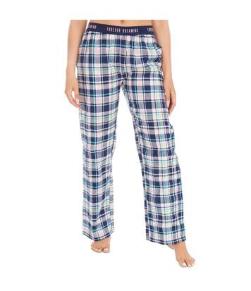 Forever Dreaming Womens/Ladies Check Lounge Pants (Navy) - UTUT976