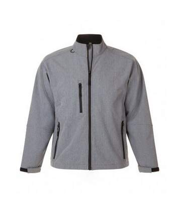 SOLS Mens Relax Soft Shell Jacket (Breathable, Windproof And Water Resistant) (Grey Marl) - UTPC347