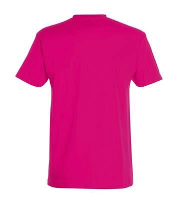 SOLS Mens Imperial Heavyweight Short Sleeve T-Shirt (Fuchsia) - UTPC290