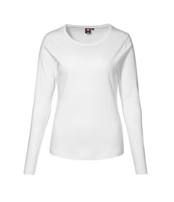 Id - T-Shirt À Manches Longues (Coupe Féminine) - Femme (Blanc) - UTID326
