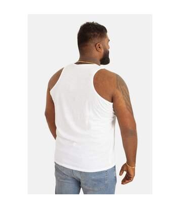 Duke Mens Fabio-1 Muscle Vest (White) - UTDC173