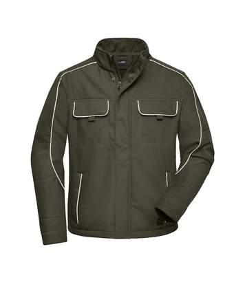 Veste blouson de travail légère softshell mixte - JN884 - vert olive