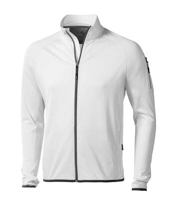 Elevate Mens Mani Power Fleece Full Zip Jacket (White) - UTPF1942