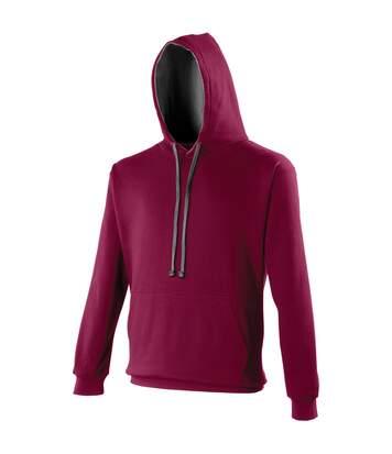 Awdis Varsity Hooded Sweatshirt / Hoodie (Sky / Arctic White) - UTRW165