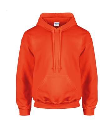Gildan Heavyweight DryBlend Adult Unisex Hooded Sweatshirt Top / Hoodie (13 Colours) (Orange) - UTBC461