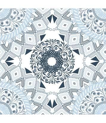 Atmosphera - Parure de lit 2 Personnes 240 x 220 cm Housse de couette avec 2 taies Imprimé Mandala