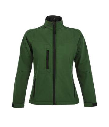 SOLS Womens/Ladies Roxy Soft Shell Jacket (Breathable, Windproof And Water Resistant) (Bottle Green) - UTPC348