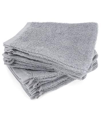 Lot de 12 gants de toilette 16x21 cm ALPHA gris Argent