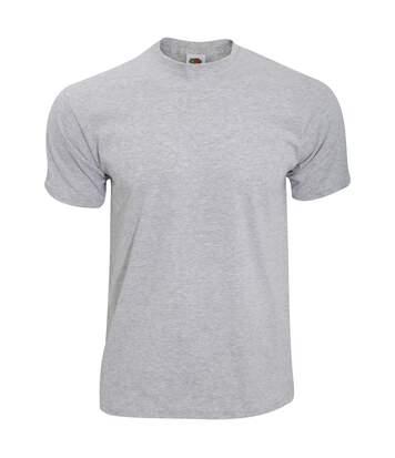 Fruit Of The Loom Mens Screen Stars Original Full Cut Short Sleeve T-Shirt (Heather Grey) - UTBC340