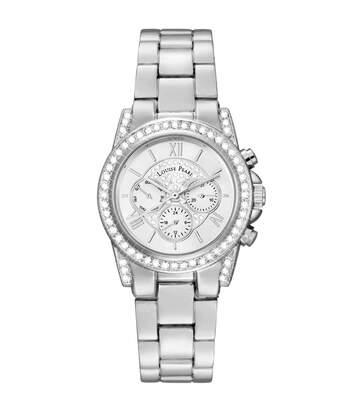 Montre Femme LOUISE PEARL Ornée de Cristaux Swarovski bracelet Acier Argenté