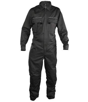 Combinaison de travail homme simple zip - gris - 80902