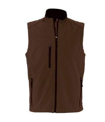 SOLS Mens Rallye Soft Shell Bodywarmer Jacket (Dark Chocolate) - UTPC349