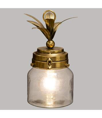 Atmosphera - Lampe LED Ananas en verre et métal doré
