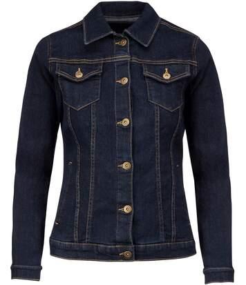 Veste - blouson jean - K6137 - bleu denim - femme