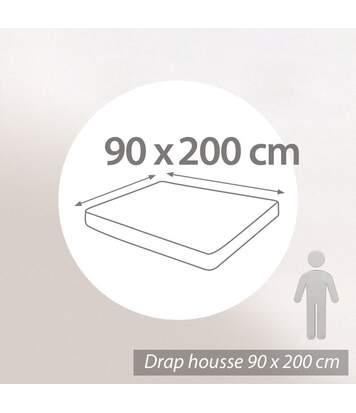 Protège matelas absorbant Antonin blanc 90x200