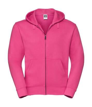 Russell Mens Authentic Full Zip Hooded Sweatshirt / Hoodie (French Navy) - UTBC1499
