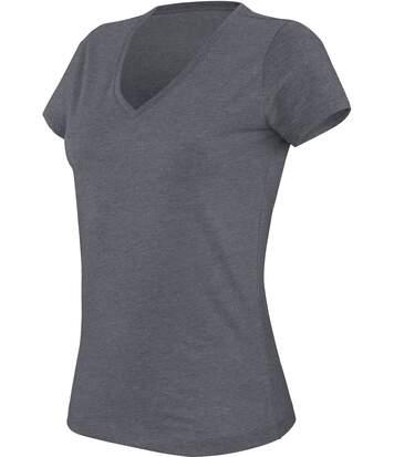 T-shirt col V manches courtes mélange femme KARIBAN